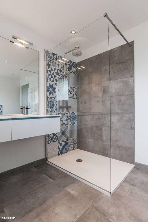 idée décoration salle de bain douche italienne