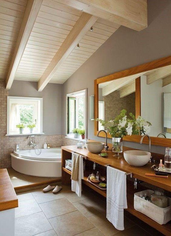 idée décoration grande salle de bain