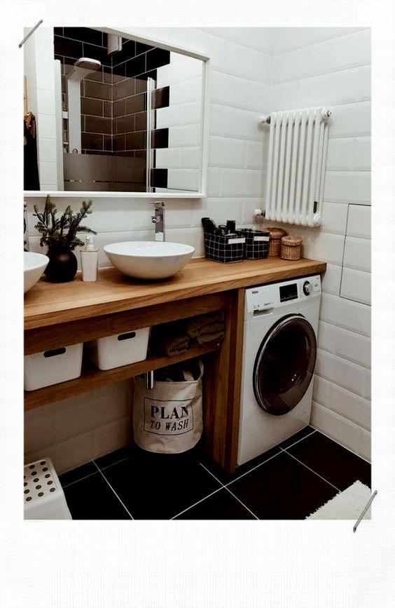 idée décoration salle de bain en bois